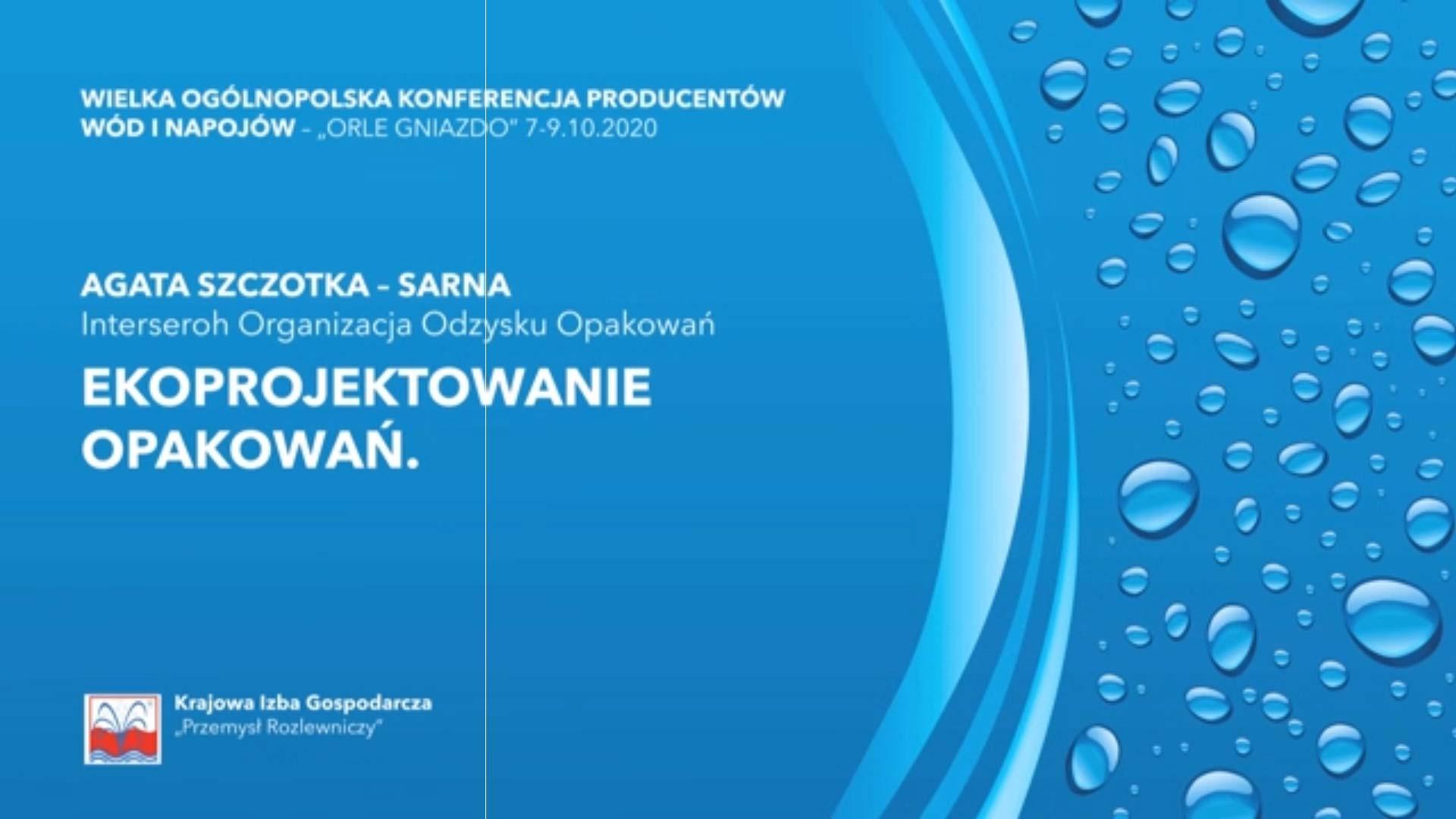 Agata Szczotka-Sarna - Ekoprojektowanie opakowań