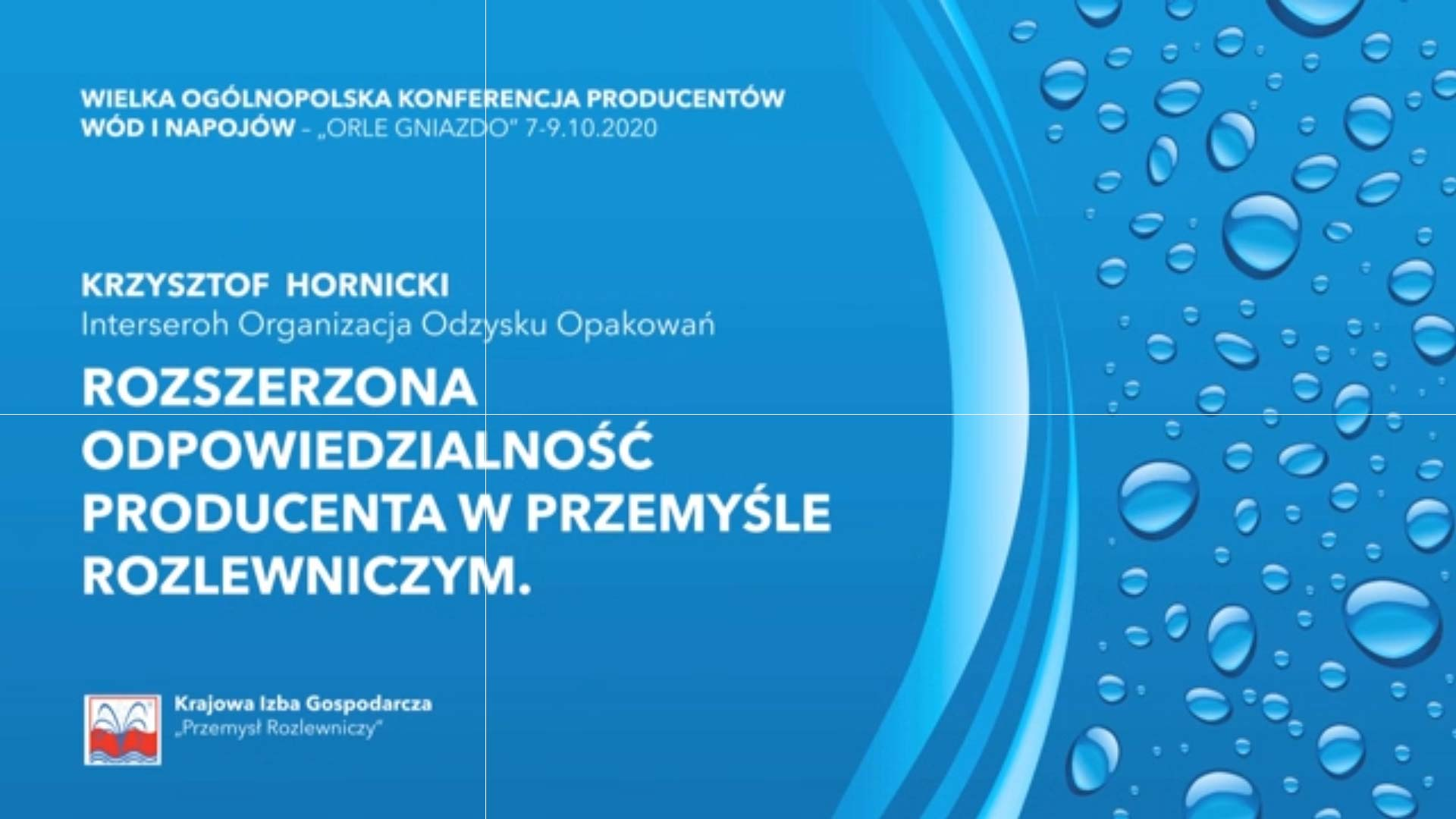 Krzysztof Hornicki - Rozszerzona odpow. producentów wód